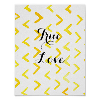 True Love customize msg Poster