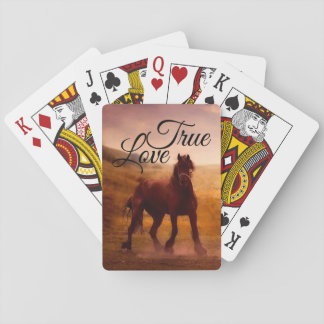 True Love Horse Playing Cards