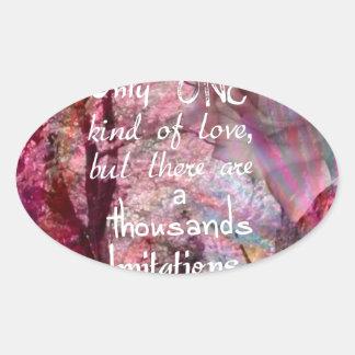 True love is not easy to find it oval sticker