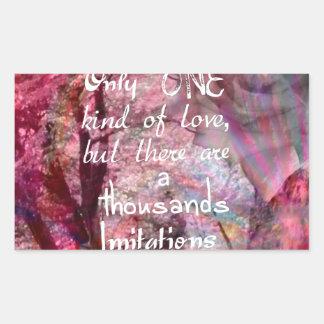 True love is not easy to find it rectangular sticker