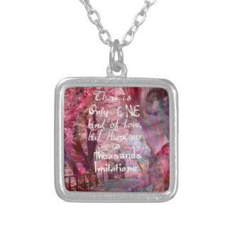 True love is not easy to find it silver plated necklace