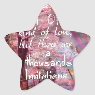 True love is not easy to find it star sticker