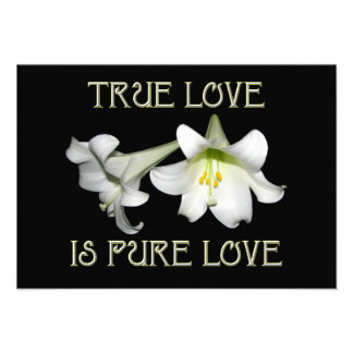 True Love is Pure Love (White Easter Lilies) Personalized Invitation