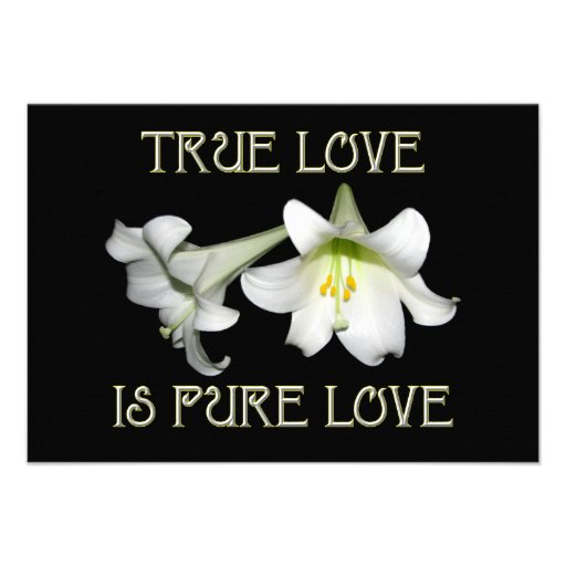 True Love is Pure Love (White Easter Lilies) Personalized Announcements