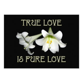 True Love is Pure Love White Easter Lilies Invite