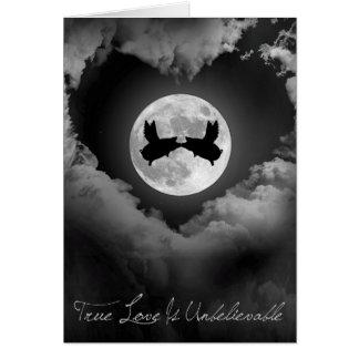 True Love Is Unbelievable-Flying Pigs Kissing Card