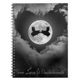 True Love Is Unbelievable-Flying Pigs Kissing Notebooks