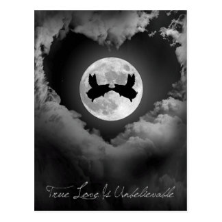 True Love Is Unbelievable-Flying Pigs Kissing Postcard