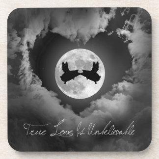 True Love Is Unbelievable-Flying PigsKissing Coaster