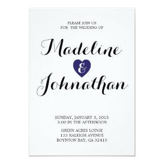 true love MODERN WEDDING invitation NAVY YELLOW