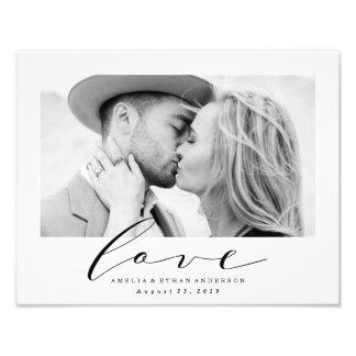 True Love | Personalized Wedding Photo Print