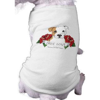 True Love Pit Bull Sleeveless Dog Shirt