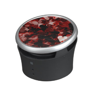 True Love Red Hearts Emotion with Black Pink Color Bluetooth Speaker