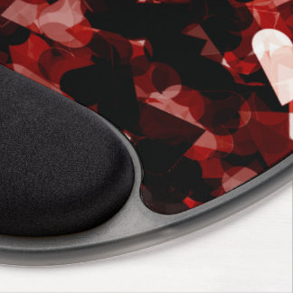 True Love Red Hearts Emotion with Black Pink Color Gel Mousepad