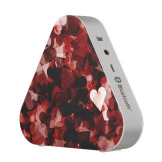 True Love Red Hearts Emotion with Black Pink Color Speaker