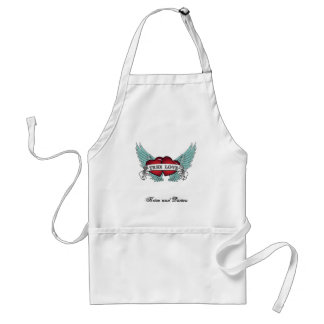 True Love Rockabilly Winged Heart Standard Apron