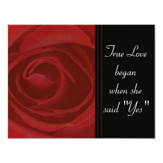 True Love Rose Card