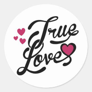 true love round sticker