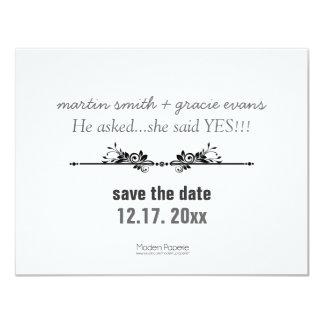 """True Love"" Save-the-date announcement 4.25"" X 5.5"" Invitation Card"