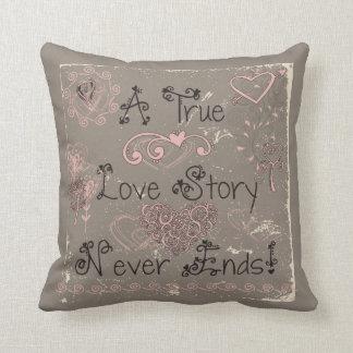 True Love Story Never Ends Pillow