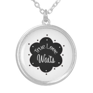 True Love Waits Silver Tone Purity Necklace