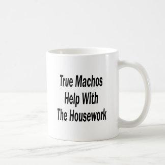 True Machos Help With The Housework Basic White Mug