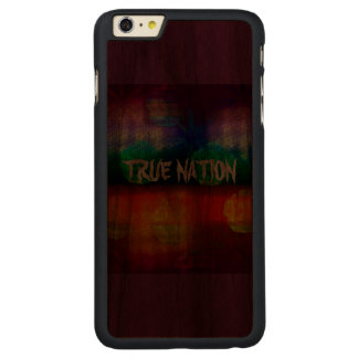 True Nation Carved® Walnut iPhone 6 Plus Case