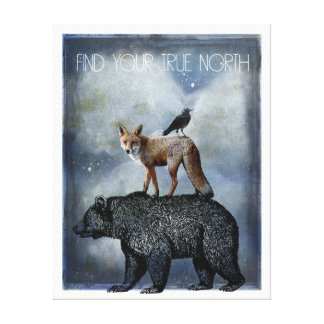 True North Animal Portrait Canvas Print