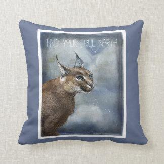True North Bobcat And Mystical Clouds Cushion