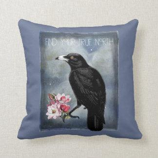 True North Crow And Magnolias Cushion