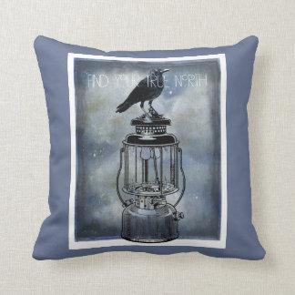 True North Crow On Lantern Cushion