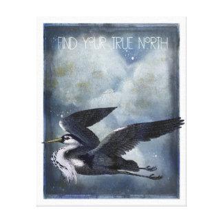 True North Heron Canvas Art