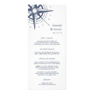 True North | Nautical Compass Wedding Menu Card