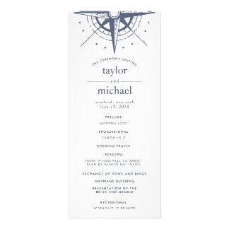 True North Wedding Ceremony Program Rack Card