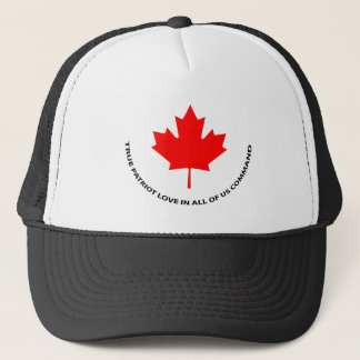True patriot love in all of us command trucker hat