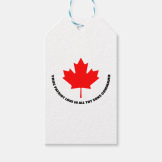 true patriot love in all thy sons command gift tags