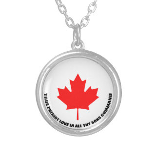 true patriot love in all thy sons command silver plated necklace