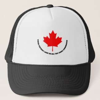 true patriot love in all thy sons command trucker hat