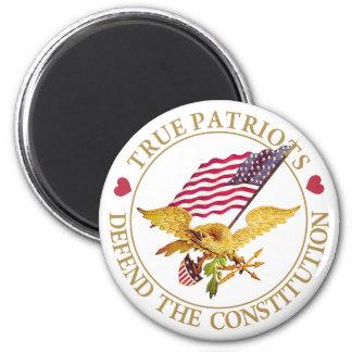 TRUE PATRIOTS DEFEND THE CONSTITUTION REFRIGERATOR MAGNETS