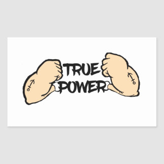 True Power Rectangular Sticker