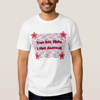 True red, white & blue American, red, blue, stars T-shirt