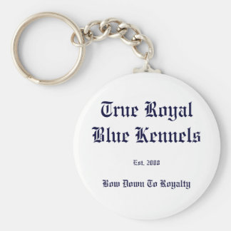 True Royal Blue Basic Round Button Key Ring