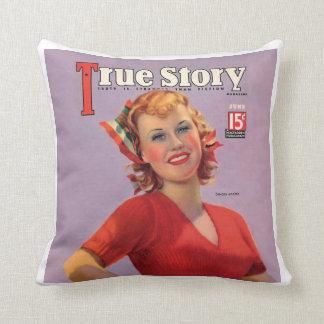 True Story Clark Ginger Rogers Cover Pillow