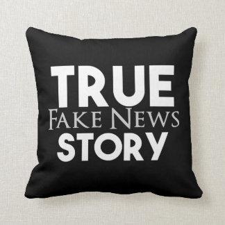 True Story Fake News Cushion