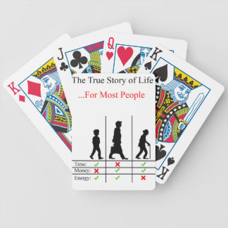 True Story Of Life Bicycle Playing Cards