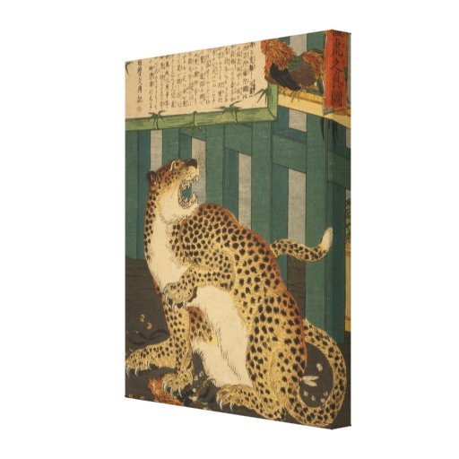 True Tiger Vintage Japanese Art - pre-1900s Gallery Wrapped Canvas