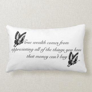 True Wealth Lumbar Pillow