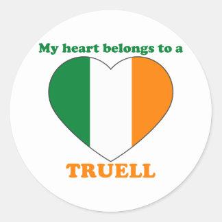 Truell Classic Round Sticker