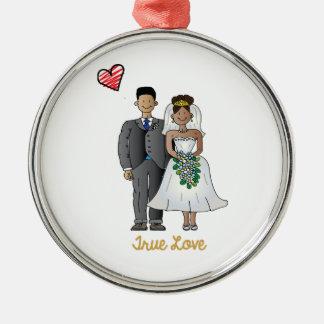 Truelove1 Metal Ornament