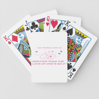 truer love statement bicycle playing cards